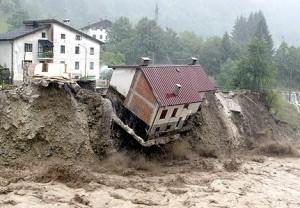 house in landslide