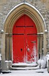 door with snow pinterest