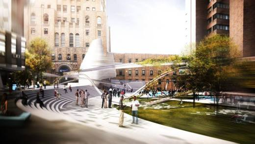 Columbia's real plaza plan