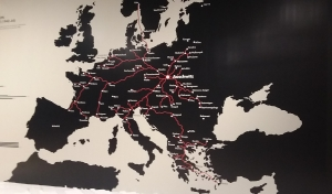 map of transports to auschwitz